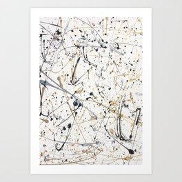 Gold&Silver On White Splatter Art Print