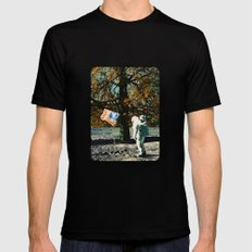 the first man under a tree MEDIUM Mens Fitted Tee Black
