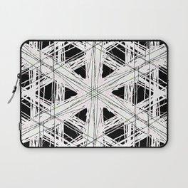 Black & white rattan pattern w/ peekaboo pink and green strings Laptop Sleeve