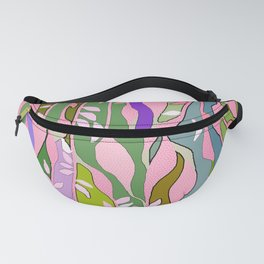 Long colored leaves Fanny Pack