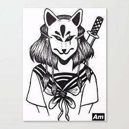 Kitsune Warrior Canvas Print