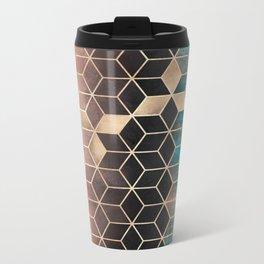 Ombre Dream Cubes Metal Travel Mug