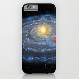 You are here: Milky Way map, Earth iPhone Case