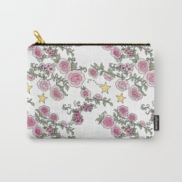 Project 52 | Pale Roses on White Carry-All Pouch