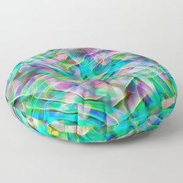 Kaleidoscopic Neon Abalone Floor Pillow
