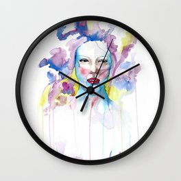 Flower Bed Wall Clock
