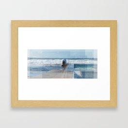 Merewether baths pumphouse Framed Art Print