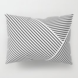 Black and White Lines Hatching Pattern Pillow Sham