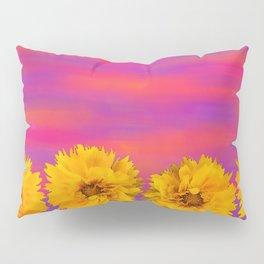 Yellow Floral Sunset Pillow Sham