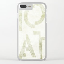 Moscato Wine Typography Clear iPhone Case