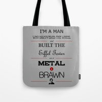 anchorman Tote Bags featuring Anchorman by thebuccanear