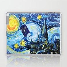 Tardis Starry Night Castle Laptop & iPad Skin