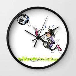 Little Soccer Girl Wall Clock