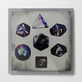 DUNGEON DICE Metal Print