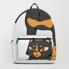 Rottweiler with a cat face Backpack