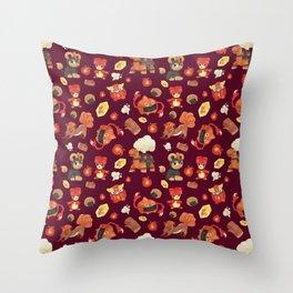Fire Spin Throw Pillow