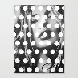 Kate Moss x Dots by Moe Notsu Canvas Print