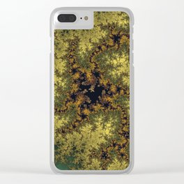 Fractal Triskele Clear iPhone Case