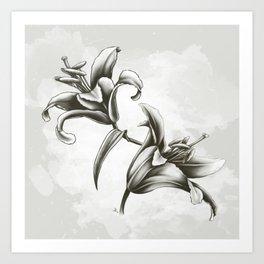 Fleur de lys Art Print