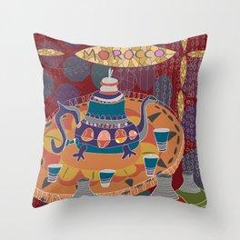 Moroccan Mint Tea Throw Pillow