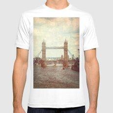 Tower Bridge 2 White MEDIUM Mens Fitted Tee