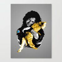 ripley Canvas Prints featuring Officer Ripley by Naavech Verro