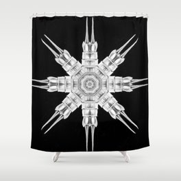 Ninja Star 8 Shower Curtain