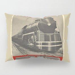 Train vintage Poster Pillow Sham