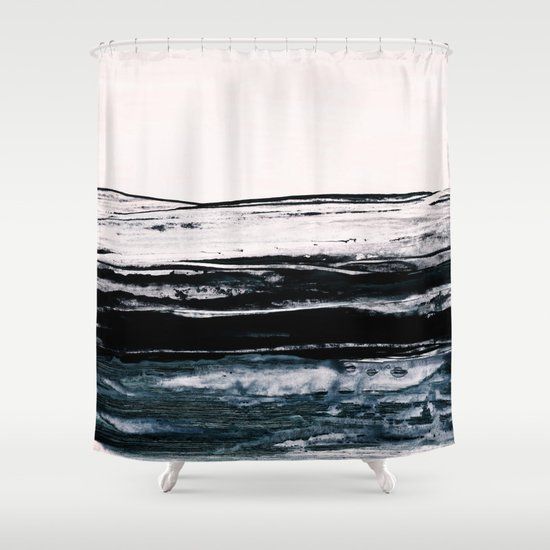 abstract minimalist landscape 9 Shower Curtain