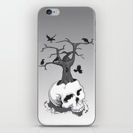 Skull and Tree iPhone Skin