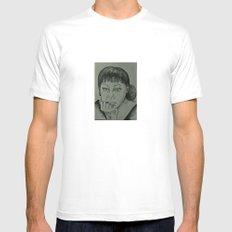 Adele Sketch Mens Fitted Tee White MEDIUM