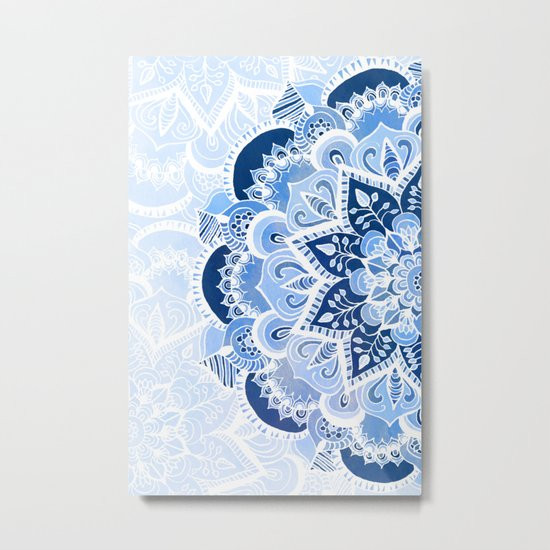 Lacy Blues Metal Print