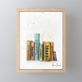 Books of Life Framed Mini Art Print