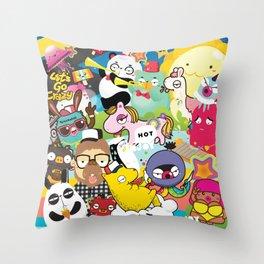 Mash up Throw Pillow