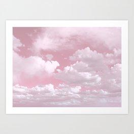 Clouds in a Pink Sky Art Print
