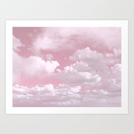 Clouds in a Pink Sky Art Print