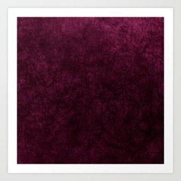 Pink Velvet texture Art Print