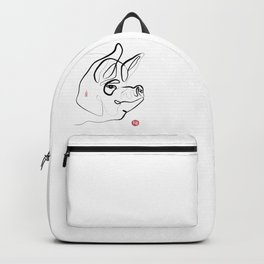 Pig Art, Chinese New Year of the Pig, Original Zen Sumi e ink Painting Backpack