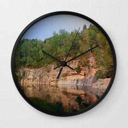 Granite rocks at the natural lake | waterscape photography Wall Clock