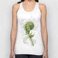 fern Tank Tops featuring Fern by Line Holtegaard