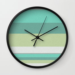 Turquoise olive striped Wall Clock
