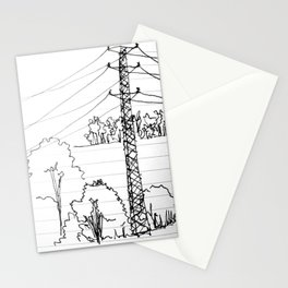 view from train Stationery Cards