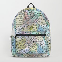 Colourful Music Categories Handwriting Backpack