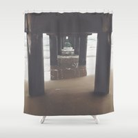 under the sea Shower Curtains featuring Under by Vale Esse