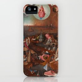 "Hieronymus Bosch ""The Last Judgment"" triptych (Bruges) iPhone Case"