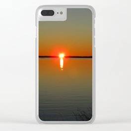 Pregnant Pause of a Downeast Evening Clear iPhone Case