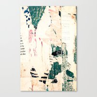 movie posters Canvas Prints featuring Posters by Patterns and Textures