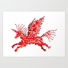 Extremely hearty unicorn pegasus Art Print