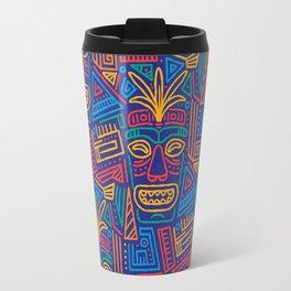 Tiki pattern Travel Mug