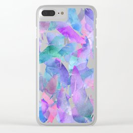 Feather Haze Clear iPhone Case